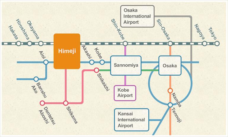AccessHimeji Tourist Information Hime no Michi
