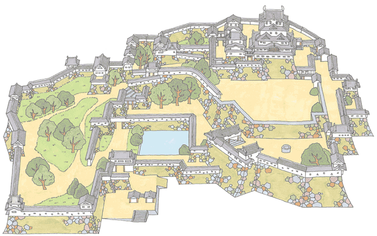 Img Himeji Castle Map on Medieval Castle Diagram